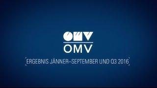 Statement von Generaldirektor Rainer Seele zum OMV Ergebnis Januar-September und Q3 2016