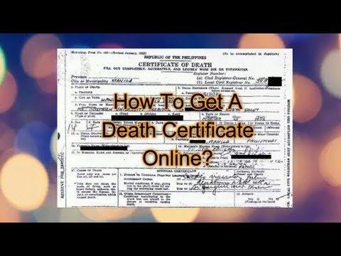 How To Get Death Certificate Online - NSO Philippines - YouTube
