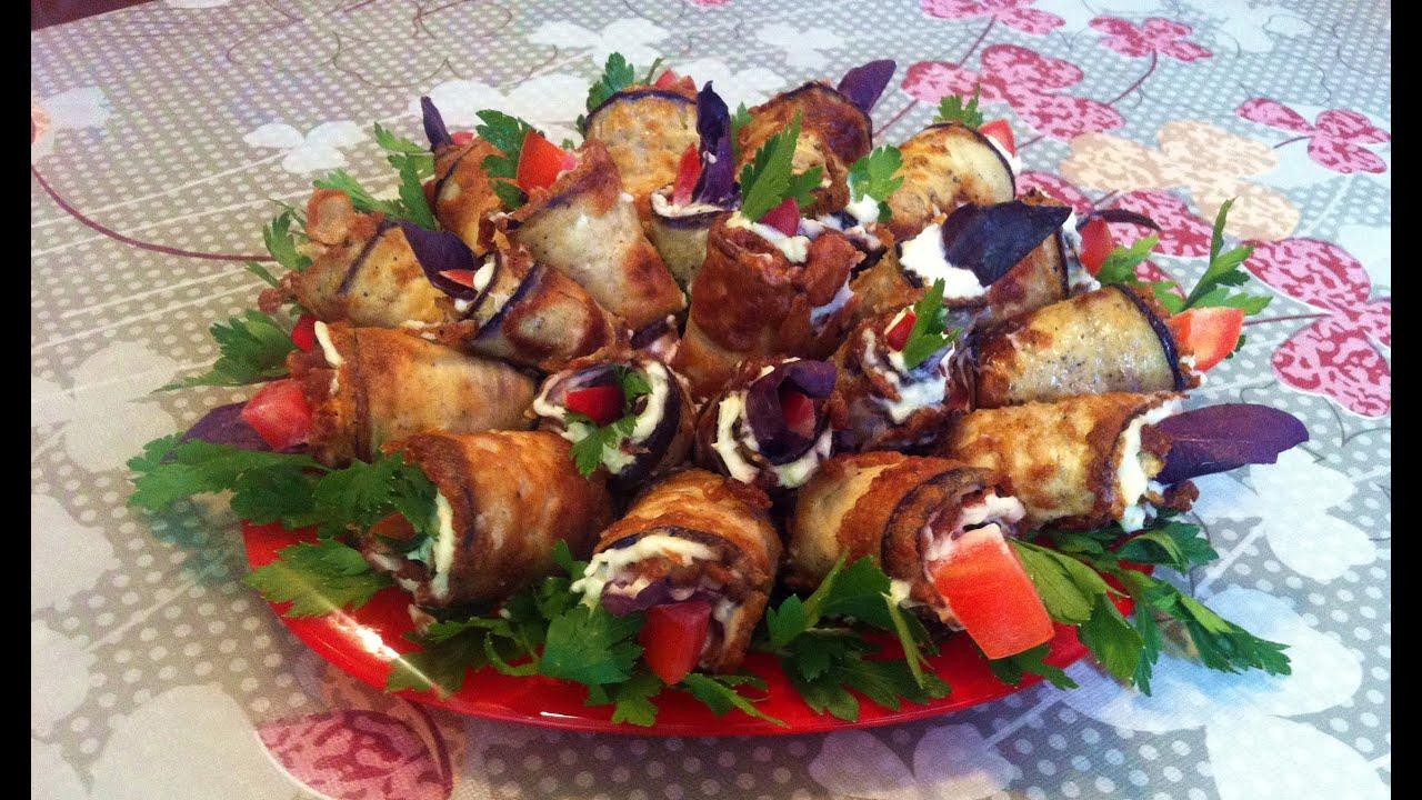 Рулетики из Баклажанов / Тёщин Язык / Eggplant Rolls / Простой Рецепт / Холодная Закуска