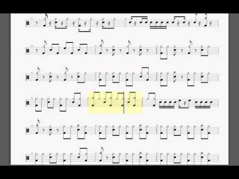 Metallica   Bad Seed Drum tablature