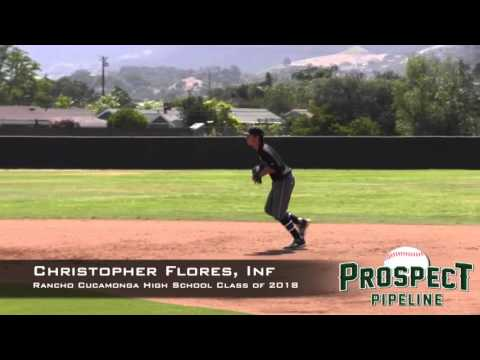 Christopher Flores Prospect Video, Inf, Rancho Cucamonga High School Class of 2018