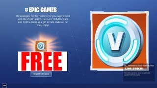 Fortnite Mobile Players are get 1,000 FREE V-Bucks!! (How to Get Vbucks)