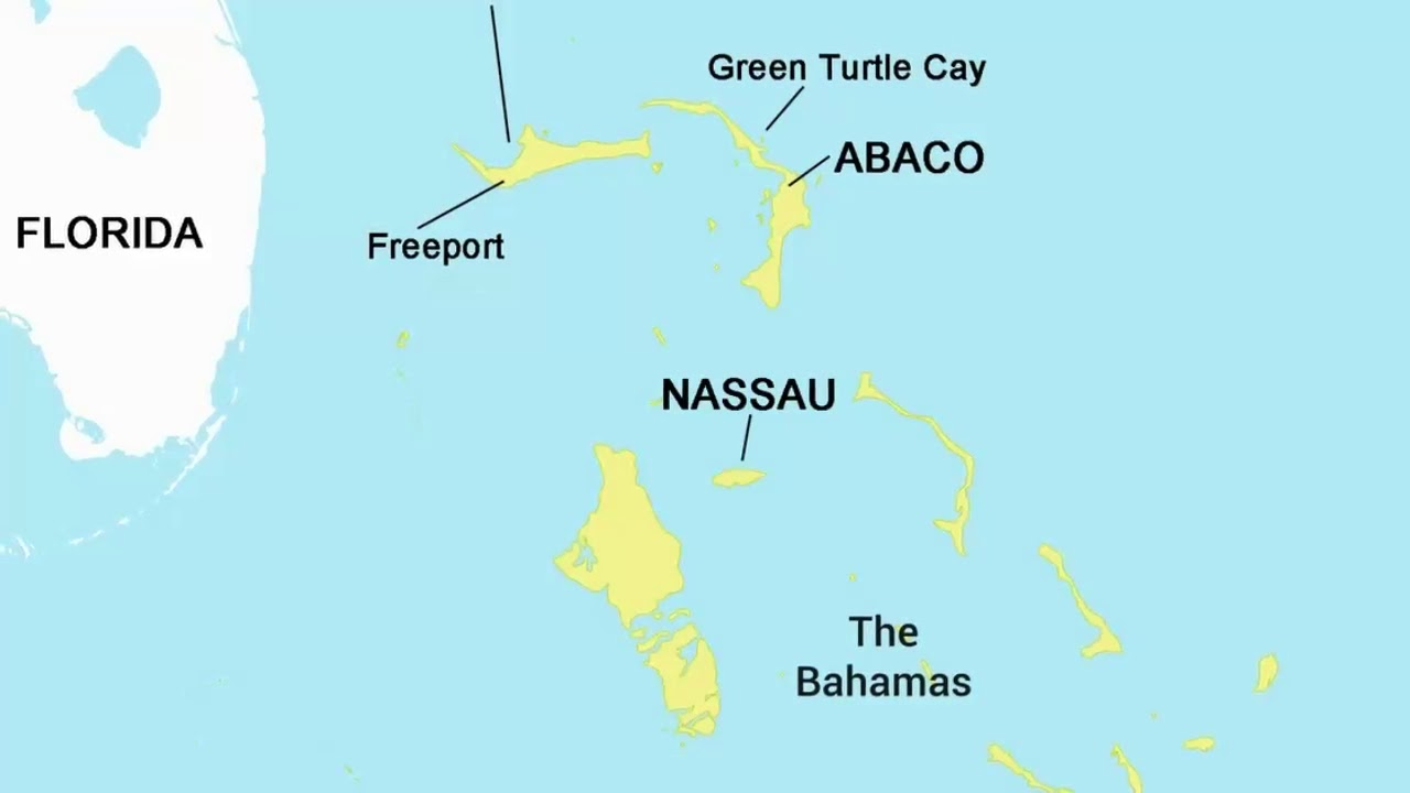 Map of Nassau, Bahamas - Pros & Cons of Nassau - YouTube