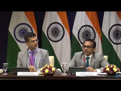 Media Briefing on State Visit of French President to India