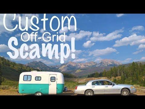 Full Time Nomad Built CUSTOM 16ft Scamp Travel Trailer (Off-Grid) | Inside Tour!