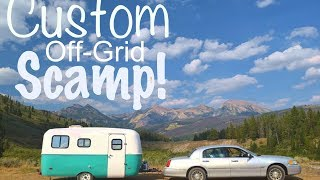 Full Time Nomad Built CUSTOM 16ft Scamp Travel Trailer (Off-Grid)   Inside Tour!