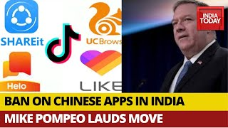 Mike Pompeo Lauds India's Ban On Chinese Apps | Defence Analyst Brahma Chellaney Exclusive