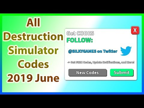 All Codes for Destruction Simulator | Code Update | 2019 June