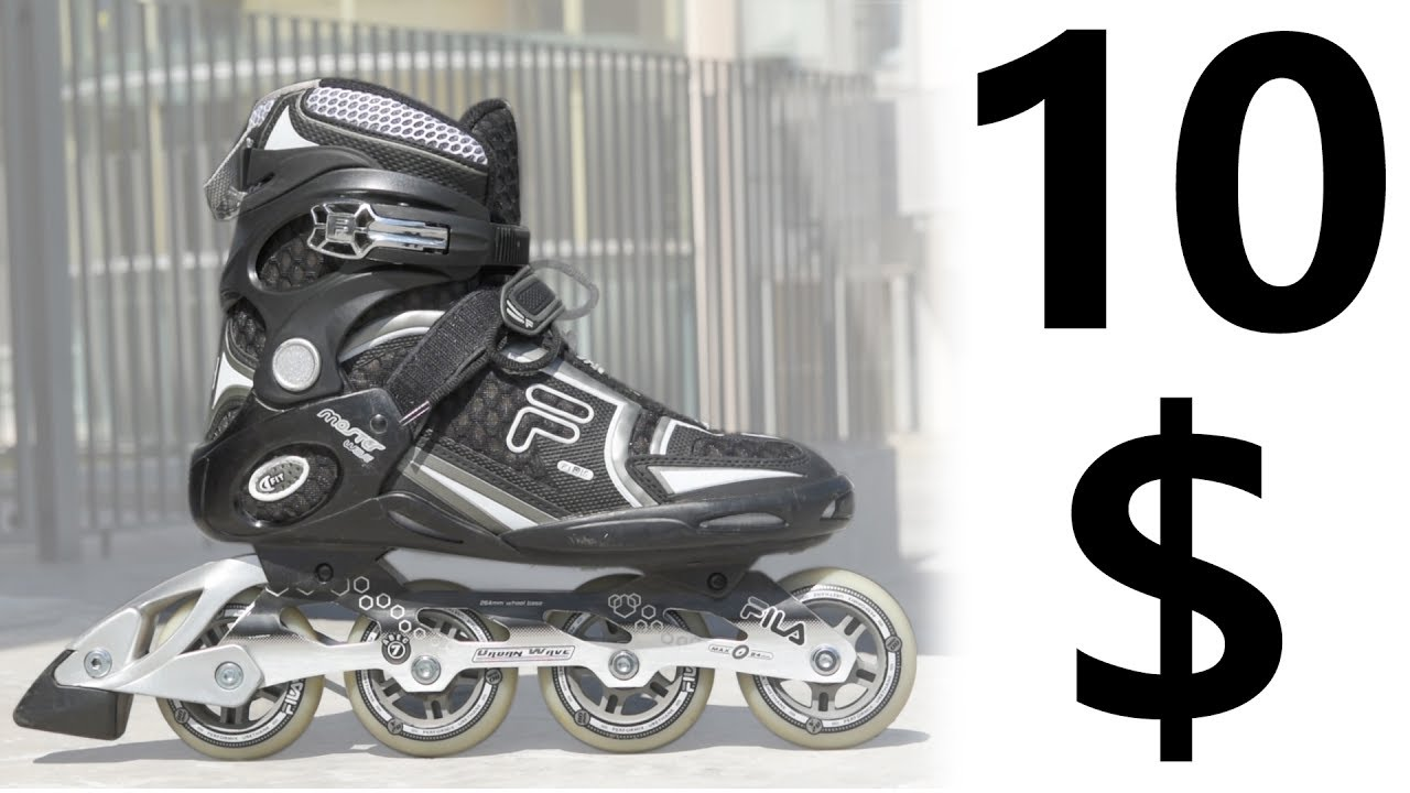 f0943dc0db6 10 $ Used INLINE SKATES !! Are They Good? Ft. FILA Master Wave - YouTube