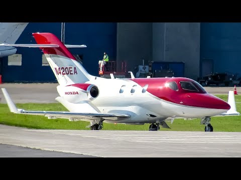 Honda aircraft ha 420 hondajet hdjt departing montreal for How much is a honda jet