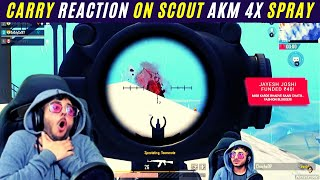 Carry Minati Shocking Reaction on Scout Akm 4x Spray | Carry Scout Together