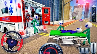 Şehirde Ambulans Kurtarma Çatı Atlama - Acil Durum Van Stunts Drive - Android GamePlay # 2