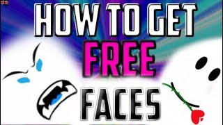 HOW TO GET FREE FACES ON ROBLOX! (2019) + GIVEAWAY | FREE|NO SURVEY|NO HUMAN VERIFICATION|