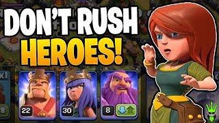 THIS IS WHY YOU SHOULD ALWAYS MAX YOUR HEROES! - Clash of Clans