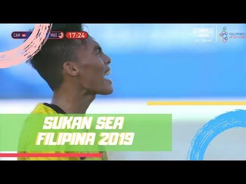 Malaysia 1 - 3 Kemboja   Sukan SEA 2019   Astro Arena
