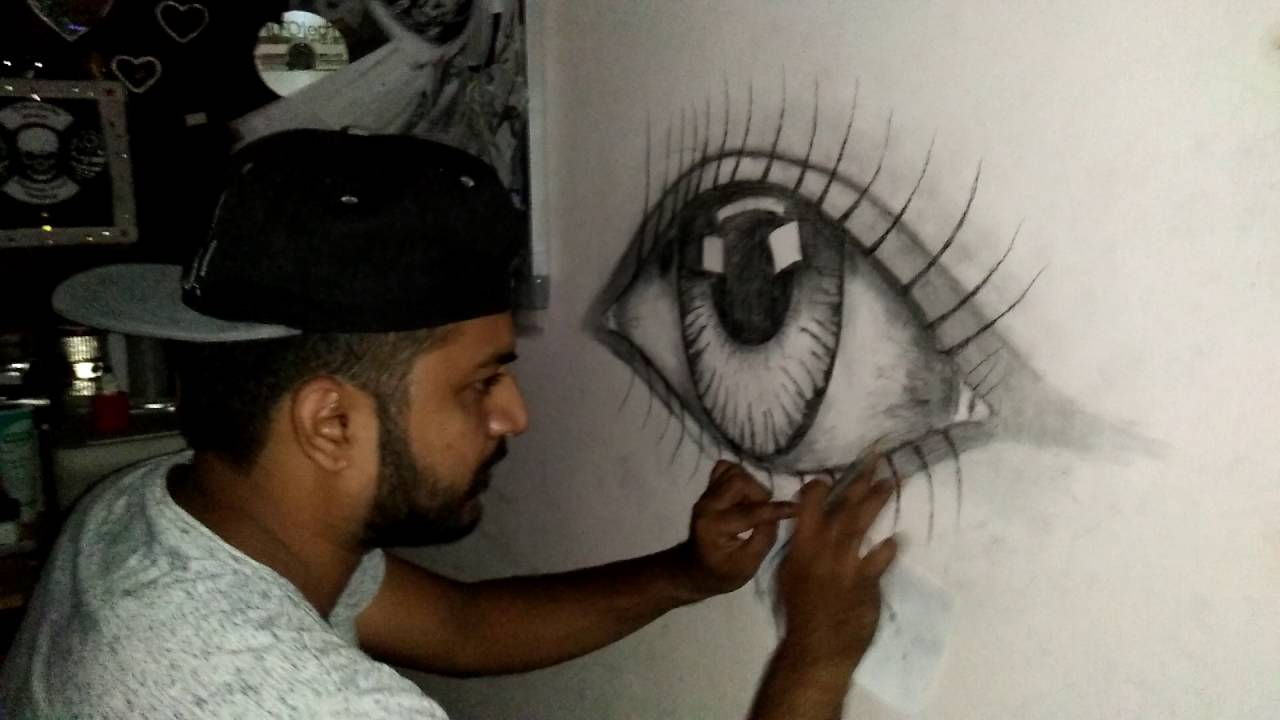 Wall Painting Eye 3d Effect Facebook Immii29