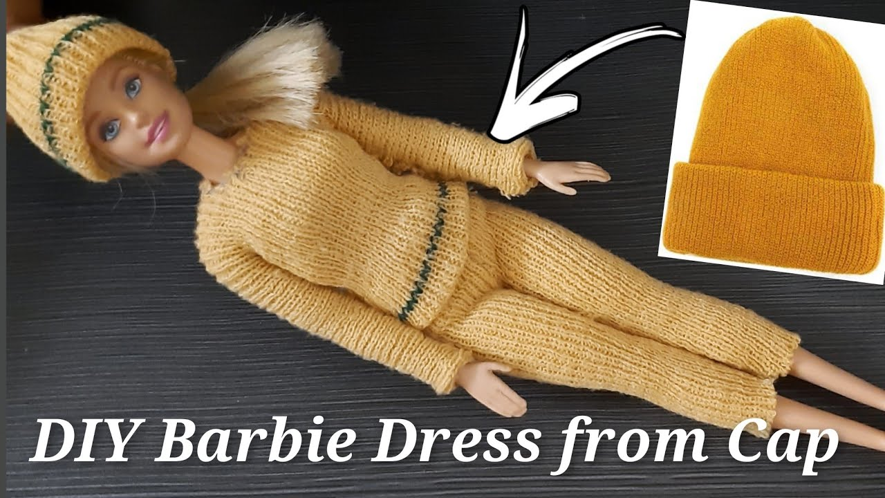 DIY Barbie Doll Dress from Cap : Barbie Doll Dresses : Barbie Clothes