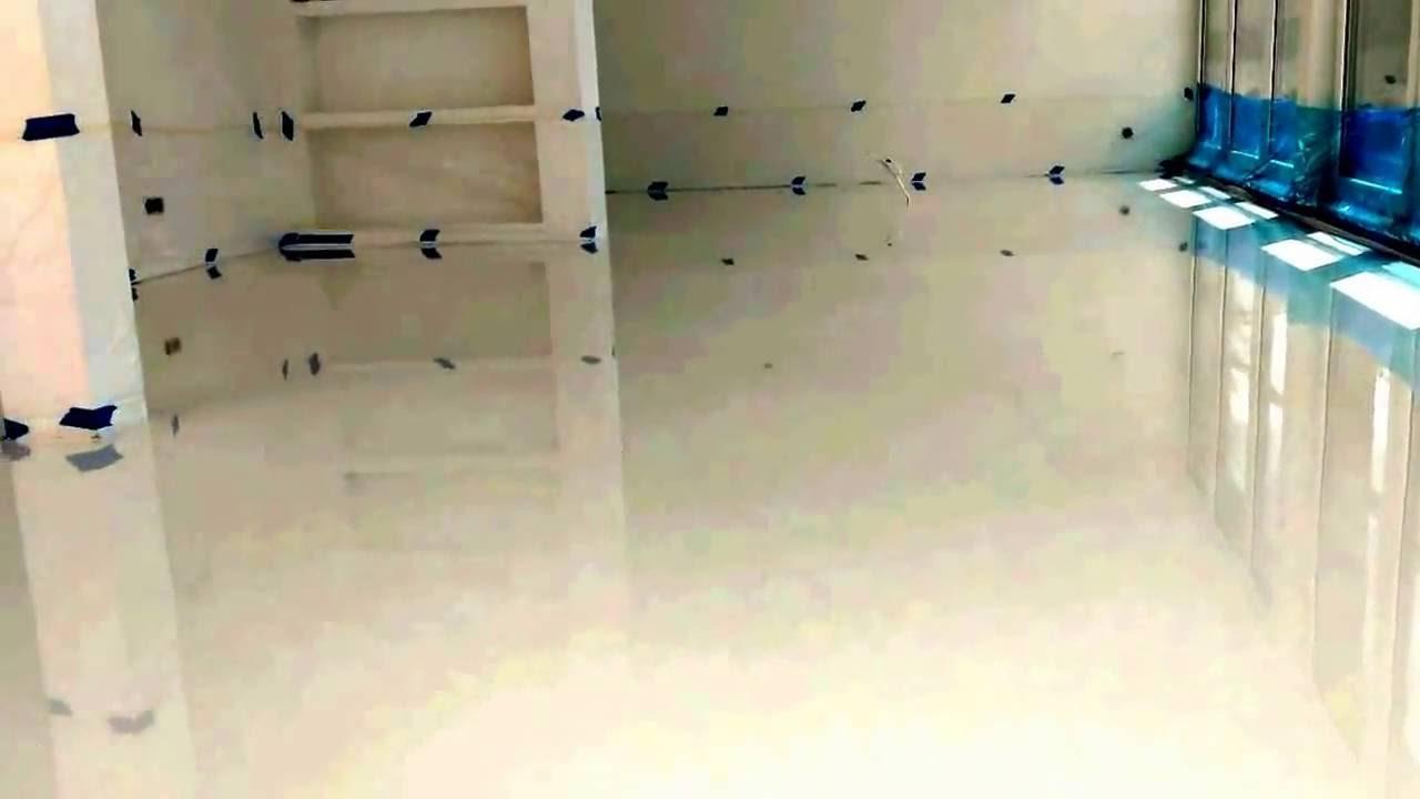 Cudowna Biała posadzka żywiczna w mieszkaniu - YouTube WE57