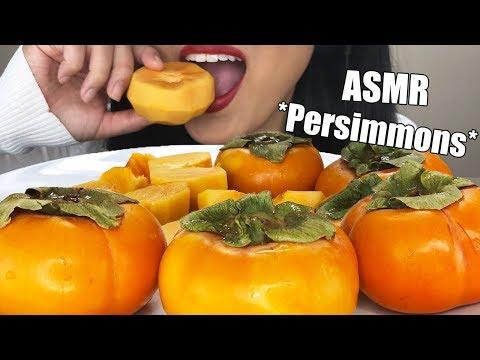 ** ASMR PERSIMMON FRUIT PLATTER ** Crunchy Eating Sounds | No Talking Exotic Fruit | ASMR Phan