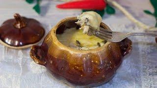 Жульен в горшочке с курицей и грибами