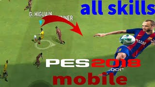 Most effective skills tutorial / pes 18 mobile