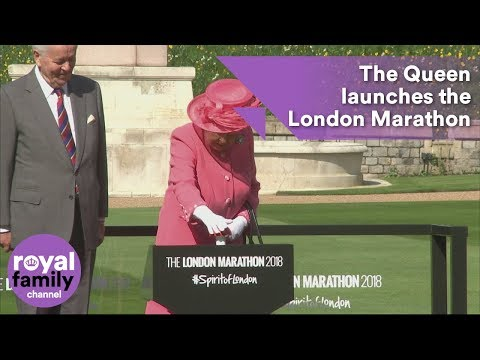 The Queen launches the London Marathon from Windsor Castle