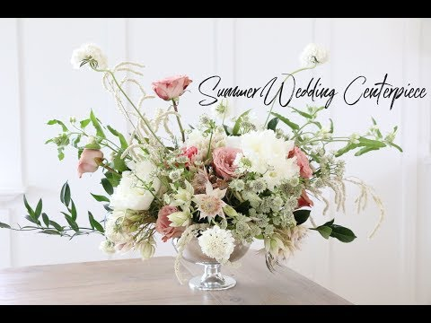 HOW TO MAKE A WEDDING CENTERPIECE | SUMMER INSPIRED