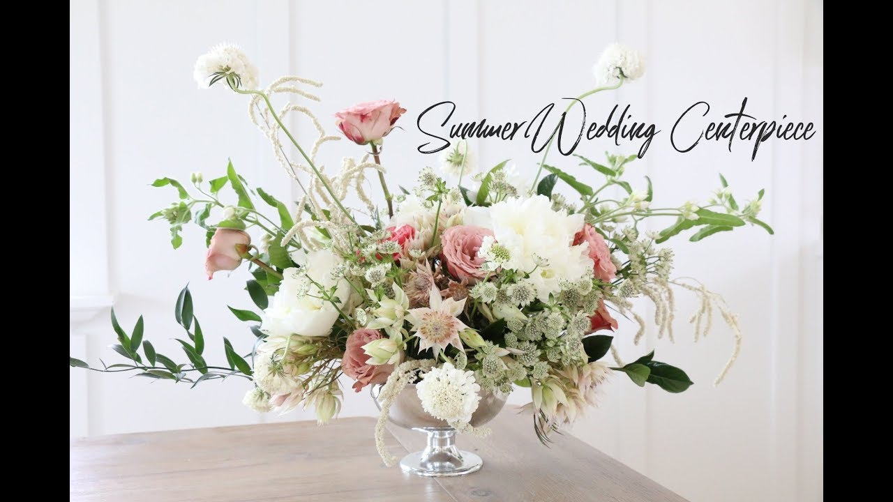 HOW TO MAKE A WEDDING CENTERPIECE | SUMMER INSPIRED - YouTube