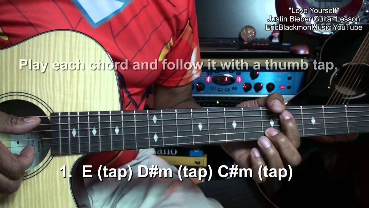Love Yourself Justin Bieber Guitar Lesson Tutorial Learn In 7