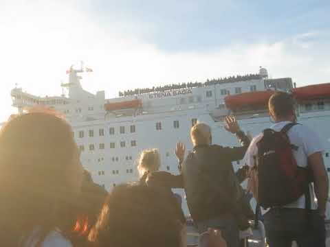 Oslo ferry meets cruise ship