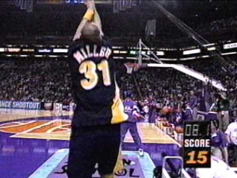 Reggie Miller Heats Up in 1995 NBA 3pt. Shootout