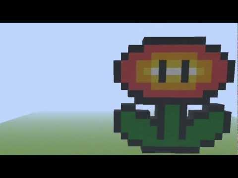 Pixel Art 3 Fireflower Super Mario
