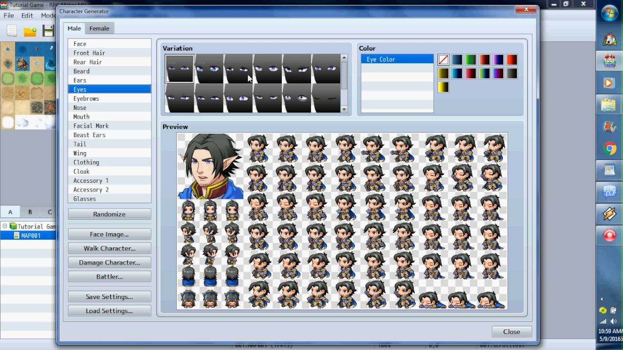 RPG Maker MV Tutorial On Putting Your Own Music In To Your Game And - Design your own character games