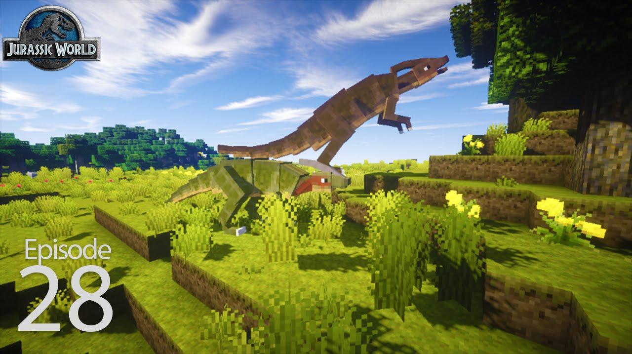 мод на майнкрафт 1.7.10 на динозавров