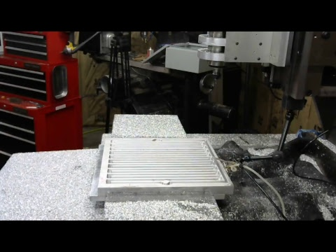 4-ish Hours Milling Aluminum - 3D Printer Heated Bed: Day 2