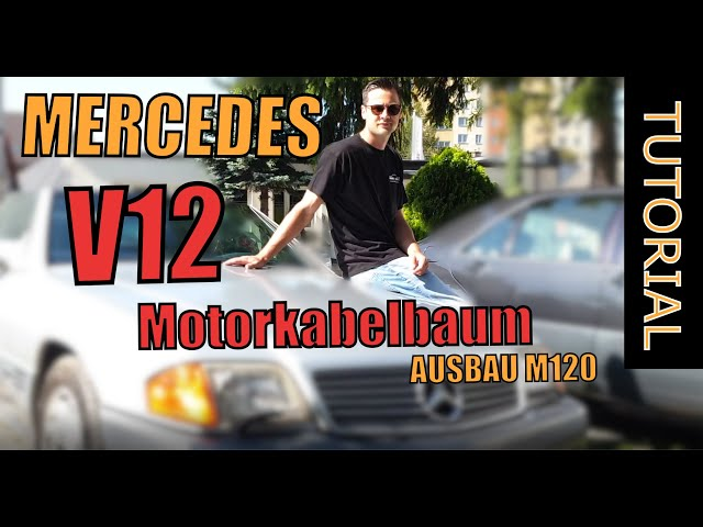 MERCEDES M120 Motorkabelbaum Ausbau Tutorial R129 W140 | Part 1