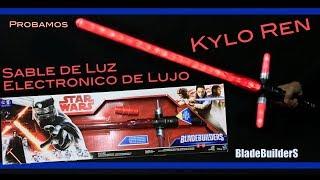 Kylo Ren Sable Electronico de Lujo Bladebuilders Hasbro Star Wars Español