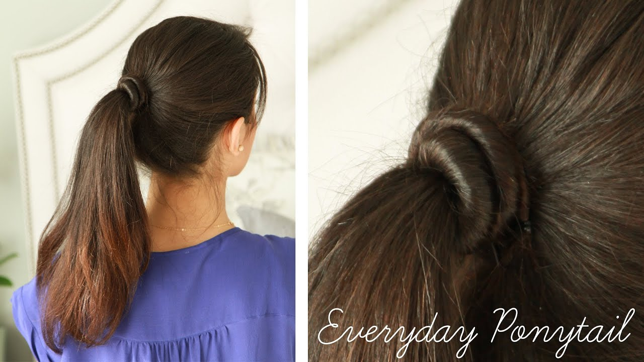 Everyday Ponytail for School or Work  YouTube - Easy Hairstyles Step By Step