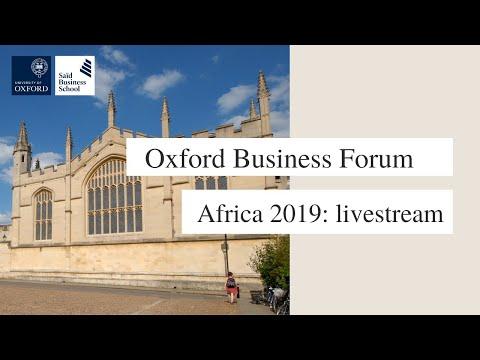 Oxford Business Forum Africa 2019: livestream