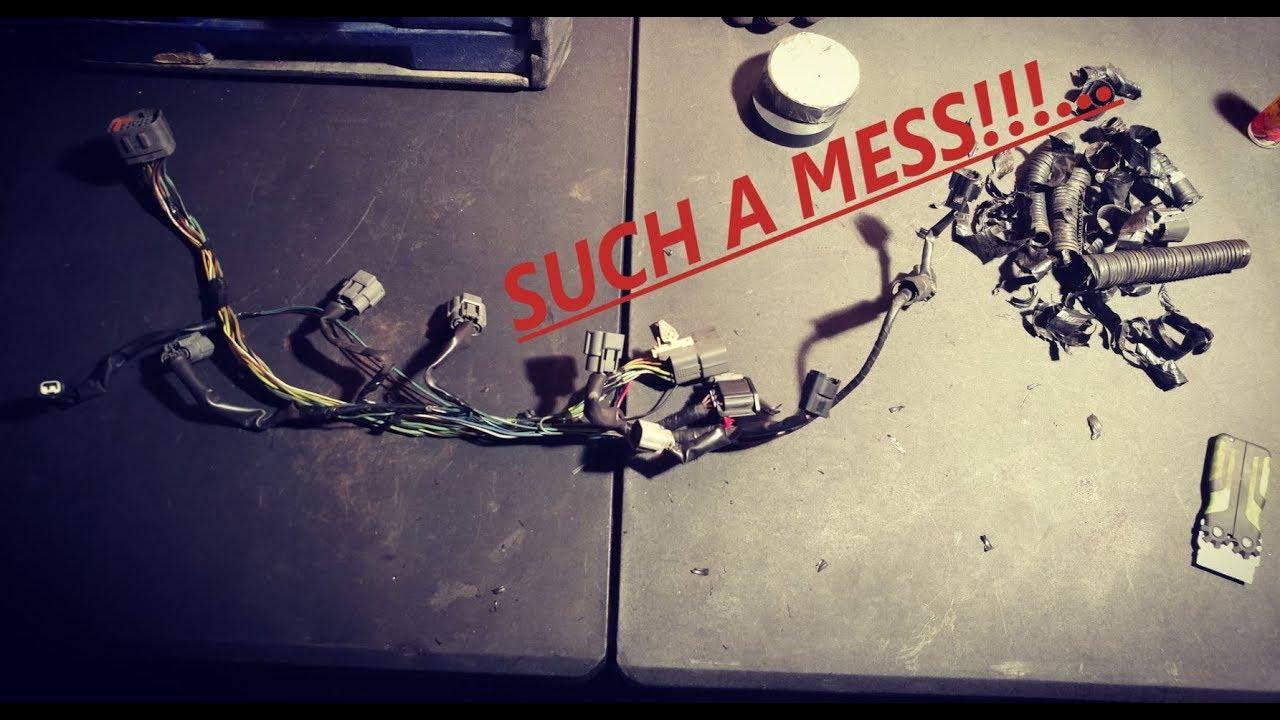 -[greyhatgarage]- mazdaspeed 6 wire tuck begins!