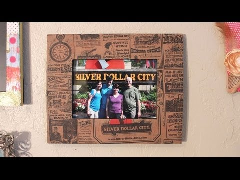 Decoupage Vacation Souvenir Frame DIY - Whitney Crafts