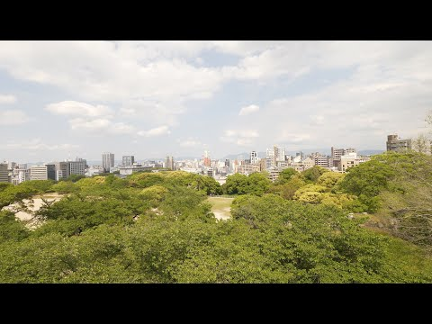 【4K】Fukuoka in May. Walking from castle remains to Hakata station.