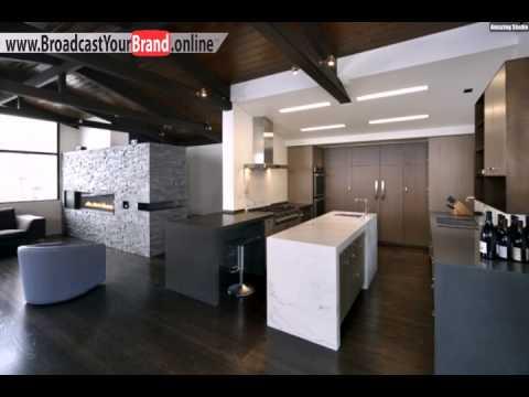 Wohnzimmer Wohnideen Offen Küche Grau Weiß Holzboden