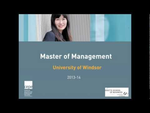 Master of Management Webinar - March 6 2013