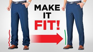 How To Tailor Paฑts Without Sewing Machine // Tapering & Hemming DIY