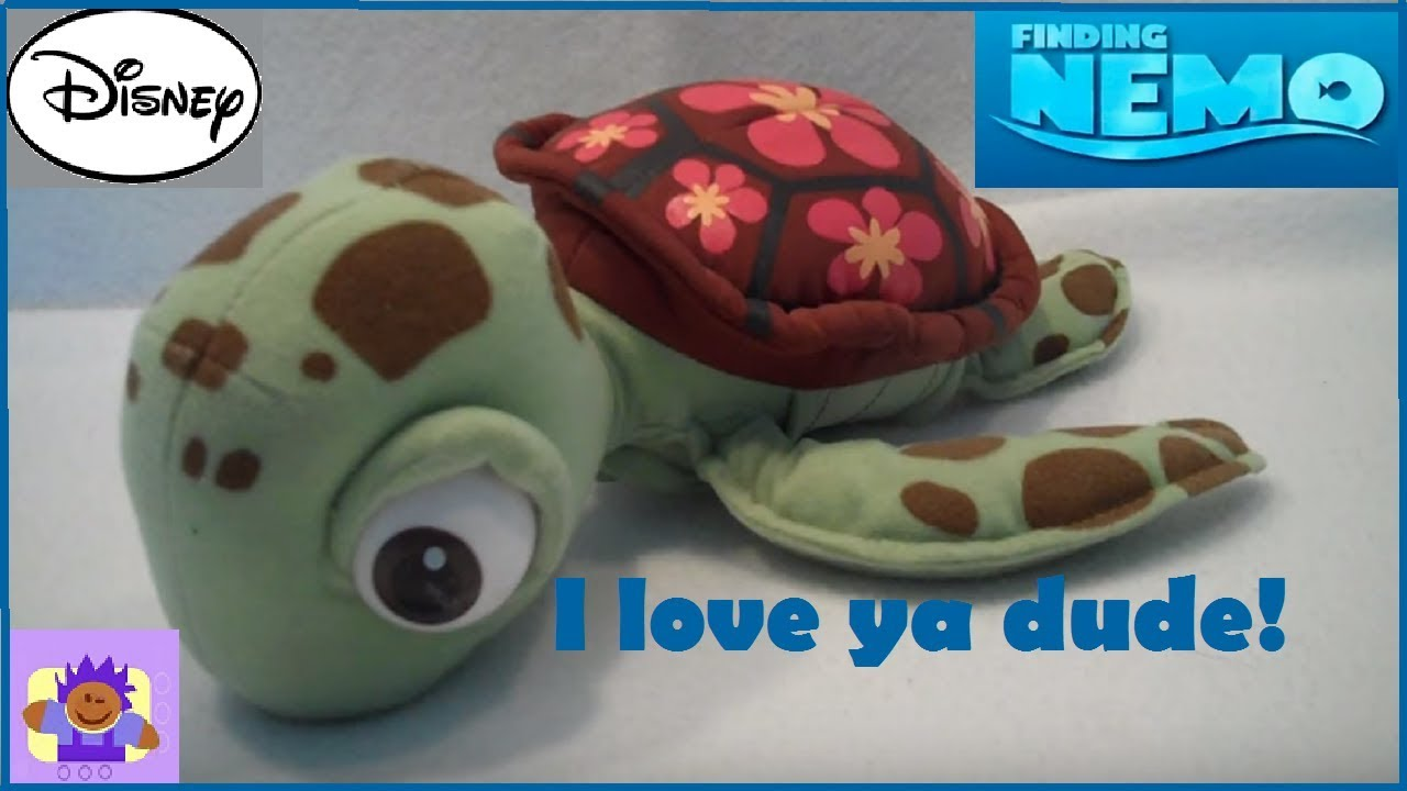 Disney Finding Nemo Surfer Talkin Squirt The Turtle Plush Toy By
