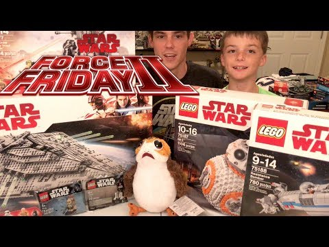 LEGO Force Friday II (2017) Haul! | LEGO Star Wars The Last Jedi Sets, Freebies, & A PORG!