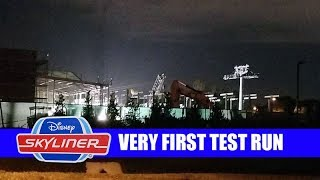 Disney Skyliner VERY FIRST RIDE TEST RUN