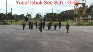 NCC Freestyle Drill Competition 2011 West Units Yusof Ishak Sec Sch (Girls)