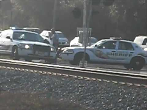 Thumbnail: Amtrak Train Stops For Car Accident At Crossing